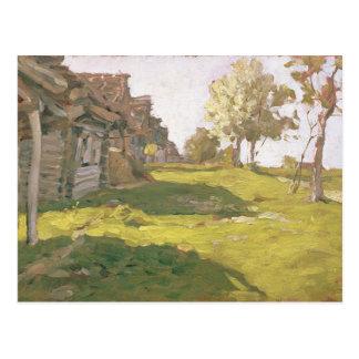 Cartão Postal Dia Sunlit. Uma vila pequena, 1898