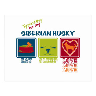 Cartão Postal Dia típico para meu rouco Siberian