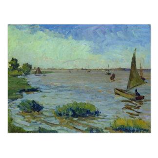 Cartão Postal Dia ventoso no Elbe, 1911