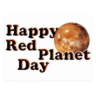 Cartão Postal Dia vermelho do planeta
