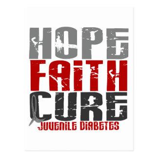Cartão Postal Diabetes juvenil de cura de fé da esperança
