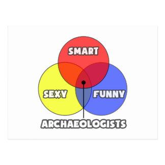 Cartão Postal Diagrama de Venn. Arqueólogos