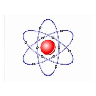 Cartão Postal Diagrama do átomo da ciência
