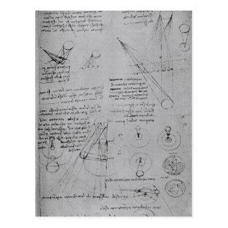 Cartão Postal Diagramas astronômicos, do códice