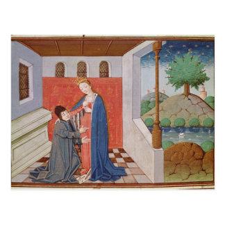 Cartão Postal Diálogo entre Boethius e filosofia