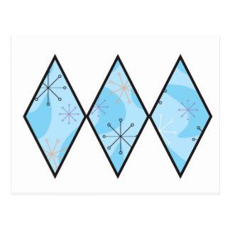 Cartão Postal Diamantes azuis do anos 50