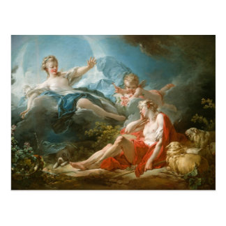 Cartão Postal Diana e Endymion por Jean-Honoré Fragonard