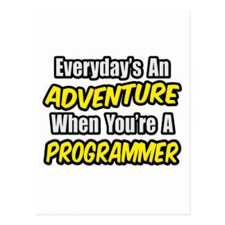 Cartão Postal Diário um programador da aventura…