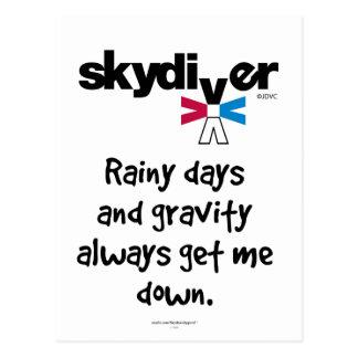 Cartão Postal Dias chuvosos e gravidade