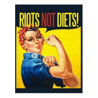 Cartão Postal Dietas dos motins não - feminismo do vintage