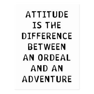 Cartão Postal Diferença da atitude