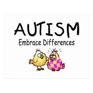 Cartão Postal Diferenças do abraço do autismo