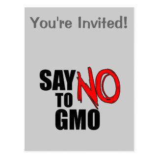Cartão Postal Diga NÃO a GMO
