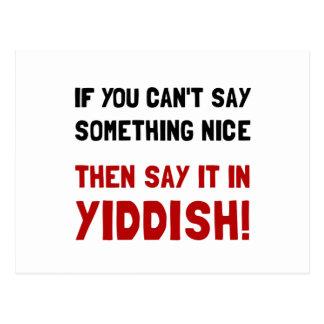 Cartão Postal Diga-o no Yiddish