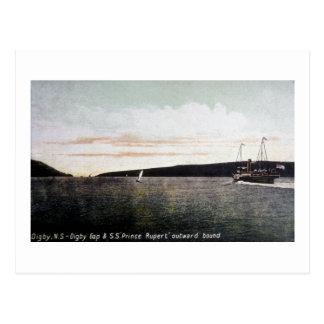 Cartão Postal Digby Nova Escócia, Digby Gap - S.S. príncipe