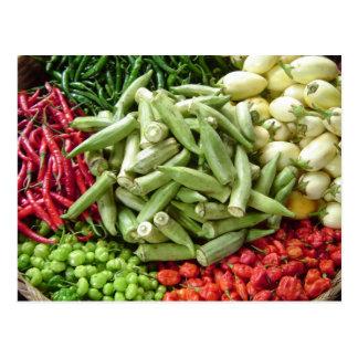 Cartão Postal Digno de nota - pimentas de pimentão africanas