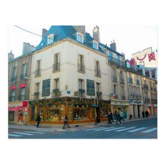 Cartão Postal Dijon, Borgonha, France, loja da mostarda