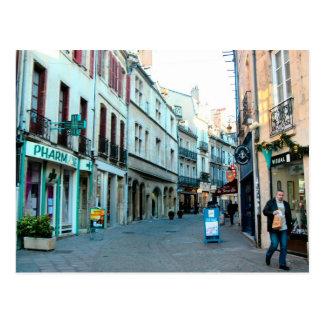 Cartão Postal Dijon, cidade velha que compra a área