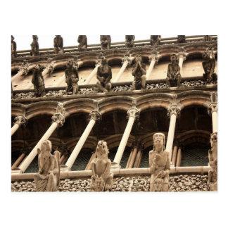 Cartão Postal Dijon, fasçade da catedral