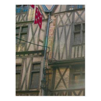 Cartão Postal Dijon, metade velha da cidade suportou construções