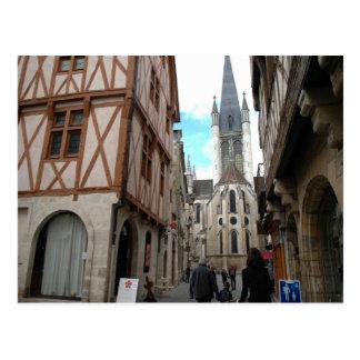 Cartão Postal Dijon, ruas estreitas