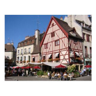 Cartão Postal Dijon, tempo do café