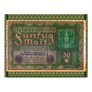 Cartão Postal Dinheiro velho: Marco 50 alemão