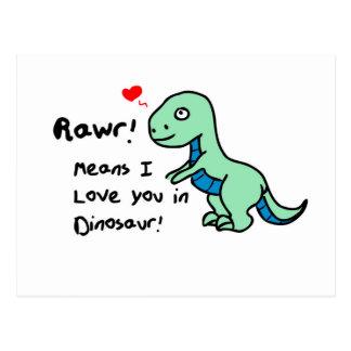 Cartão Postal Dinossauro