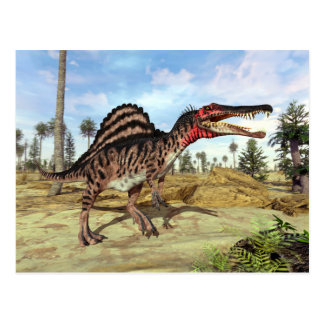Cartão Postal Dinossauro cretáceo da era de Spinosaurus