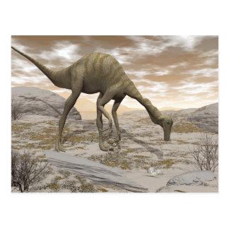 Cartão Postal Dinossauro de Gallimimus - 3D rendem