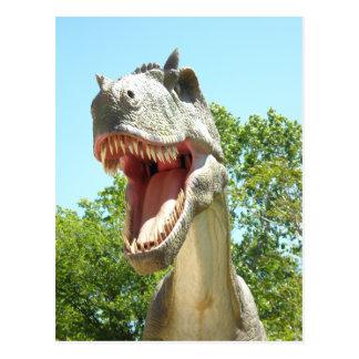 Cartão Postal Dinossauro de T-Rex do tiranossauro