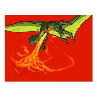 Cartão Postal dinossauro dejogo do Pterodactyl - Sean Moore