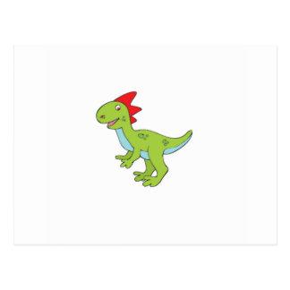 Cartão Postal dinossauro do rex do lagarto