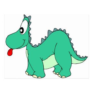 Cartão Postal Dinossauro dos desenhos animados