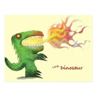 Cartão Postal Dinossauro ou dragão por poucos t e Abdul Rasheed