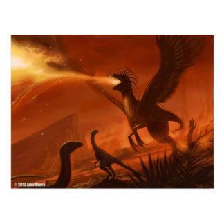 Cartão Postal Dinossauro pré-histórico deRespiração por Jake