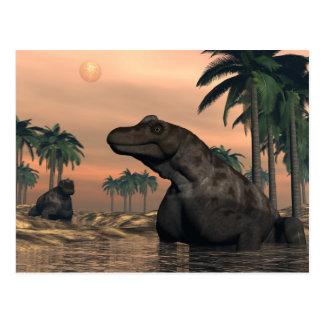 Cartão Postal Dinossauros de Keratocephalus - 3D rendem