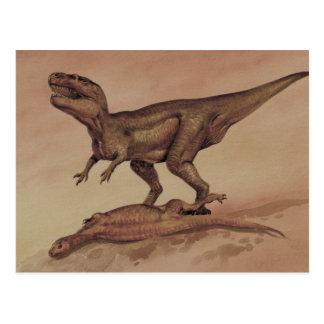 Cartão Postal Dinossauros do vintage, Giganotosaurus do
