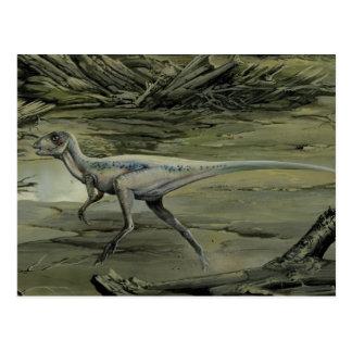 Cartão Postal Dinossauros do vintage, um Hypsilophodon cretáceo