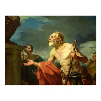 Cartão Postal Diogenes que pede a esmola, 1767