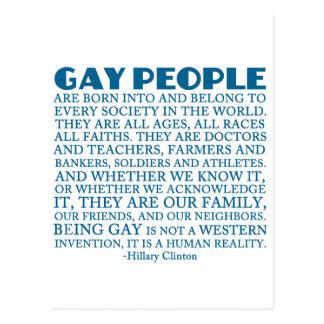 Cartão Postal Direitos dos homossexuais
