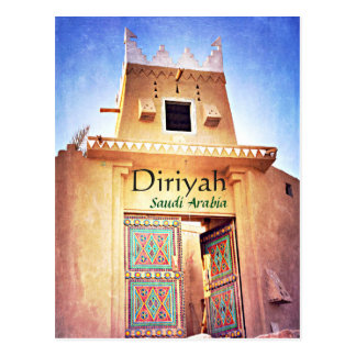Cartão Postal Diriyah histórico Riyadh Arábia Saudita