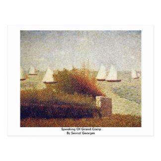 Cartão Postal Discurso do acampamento grande por Seurat Georges