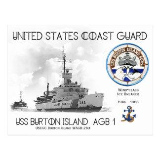 Cartão Postal Disjuntor de gelo da ilha WAGB-283 de USCGC Burton