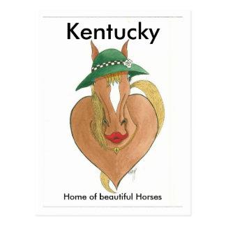 Cartão Postal disjuntor do coração, Kentucky, casa de cavalos