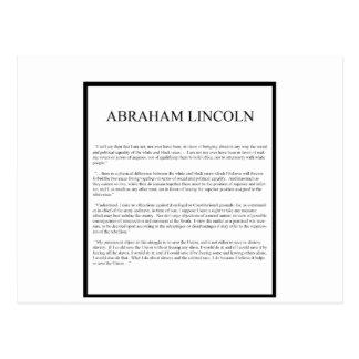 Cartão Postal Disposição alternativa honesta de Abe