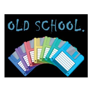 Cartão Postal disquetes da velha escola