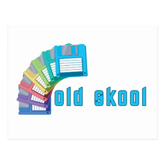 Cartão Postal Disquetes velhas de Skool