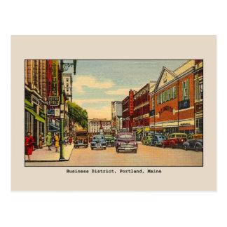 Cartão Postal Distrito financeiro do vintage, Portland, MIM