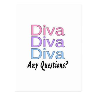 Cartão Postal Diva da diva da diva